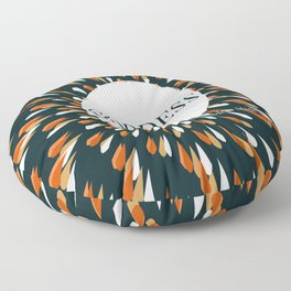 Spiraled Goddess (Teal)  Floor Pillow