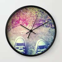 converse Wall Clocks featuring Converse by Jane Mathieu