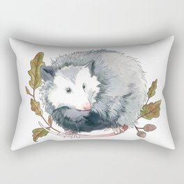 Possum and Oak Leaves Rectangular Pillow