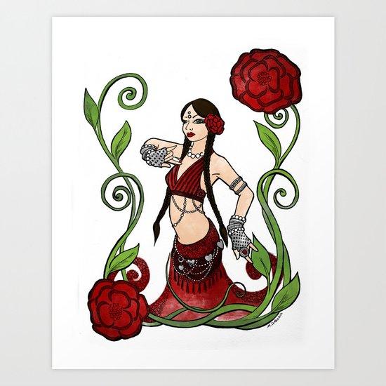 Bellydance: Queen of Hearts Art Print