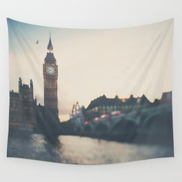 sunset over the city ... Wall Tapestry