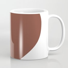 Heart (Brown & White) Coffee Mug