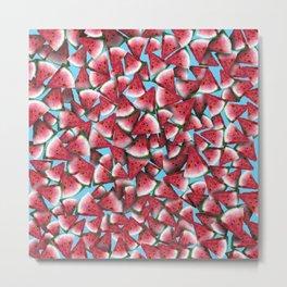 Watermelon Watercolor Metal Print