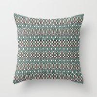 folk Throw Pillows featuring Folk by Ana Types Type