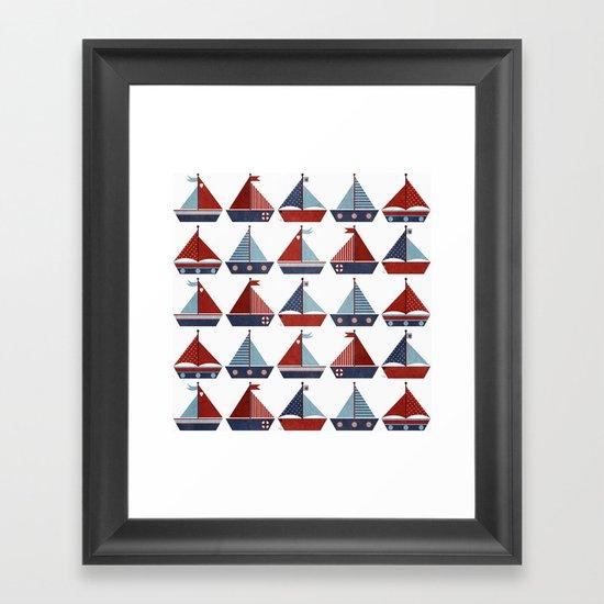 My Little Sail Boat. Framed Art Print
