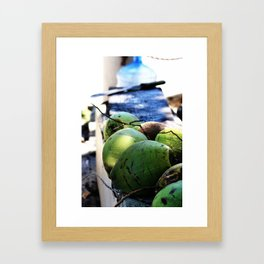 Coconut Fresh Framed Art Print