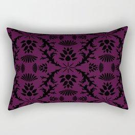 Purple Thistle Damask Rectangular Pillow