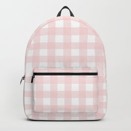 Pastel pink gingham pattern Backpack