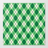 irish Canvas Prints featuring Irish Argyle by Fimbis