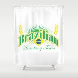 drinking team Shower Curtain