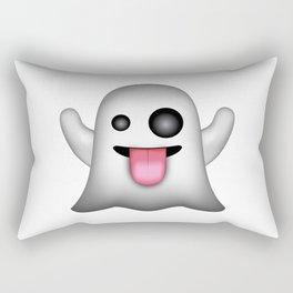 Ghost Emoji Rectangular Pillow