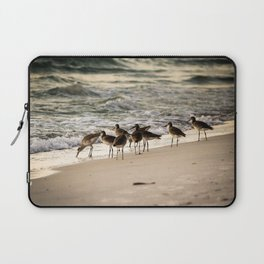 Birds on the Beach of Anna Maria Island Laptop Sleeve
