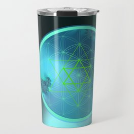 Flower of Life and six pointed Star Travel Mug