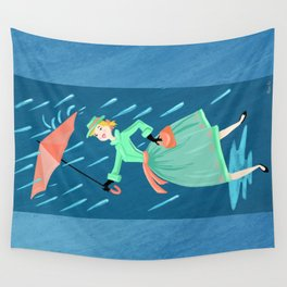 April Showers Bring May Flowers Wall Tapestry