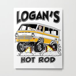 Logan's Hot Rod Van -1 rev2 Metal Print