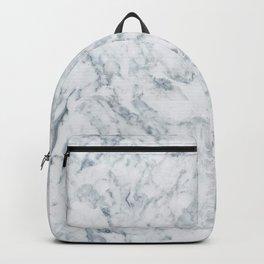 Vintage elegant navy blue white stylish marble Backpack