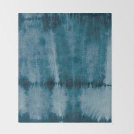 Tye Dye Denim Throw Blanket