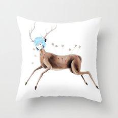 Rei Kahlo Throw Pillow