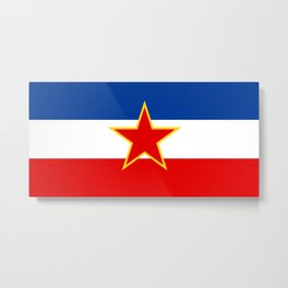 Flag of Yugoslavia Metal Print
