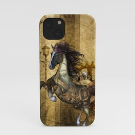 Awesome steampunk horse iPhone Case