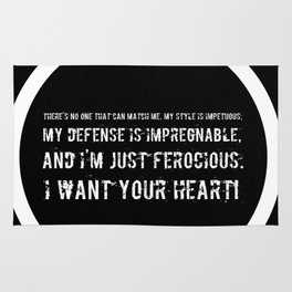 Impetuous, Impregnable, Ferocious, Heart Rug
