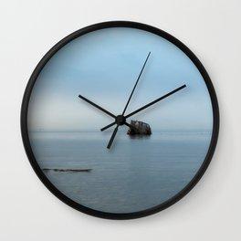 The blue blue sea Wall Clock