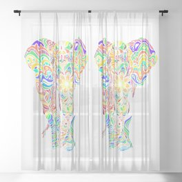 Not a circus elephant Sheer Curtain