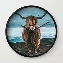 Rusty The Scottish Highland Coo Wall Clock