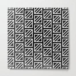 Glyph Pattern Metal Print