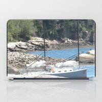 maine iPad Cases featuring Maine Sailboat by Rachael Nicole