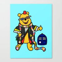 pooh Canvas Prints featuring Doctor Pooh by Murphis the Scurpix