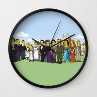 downton abbey Wall Clocks featuring Downton Abbey cast by Adrien ADN Noterdaem