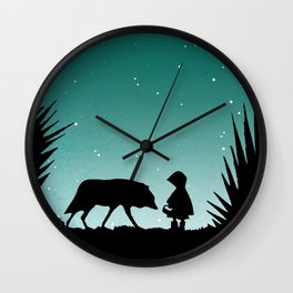 """""""Secret Encounters"""" (Dedicated to the Ricci/Forte Theatre Company for their """"Grimmless"""" Show) Wall Clock"""