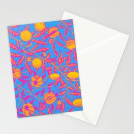 Pansexual Pride Fruiting Leafy Branches Design Stationery Cards