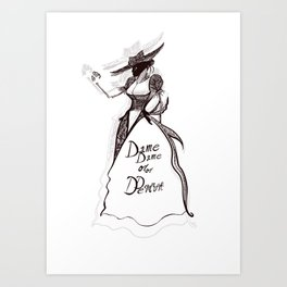 Dame or Demon Art Print