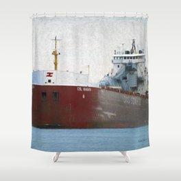 Freighter CSL Niagara Shower Curtain
