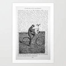 1930s Boy on Bike Photo Collage Art Print