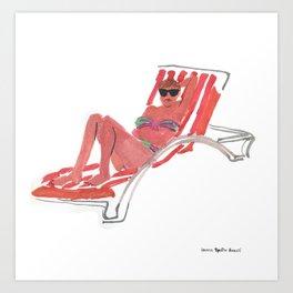 Woman with sunglasses Art Print
