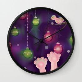 Christmas Window at Night Wall Clock