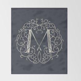 """M""ONOGRAM Throw Blanket"