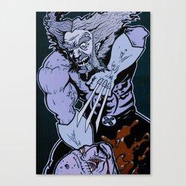 Wolvie Vs. Zombie Canvas Print