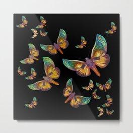 """Fantasy multicolored butterflies II"" Metal Print"