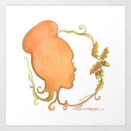 Fall Silhouette Art Print
