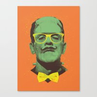frank Canvas Prints featuring Mr Frank by Victor Vercesi
