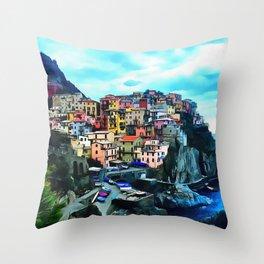 Manarola Throw Pillow