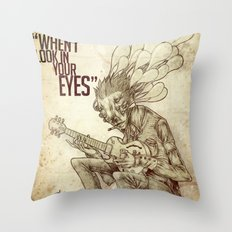 When I look in your eyes Throw Pillow