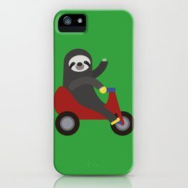 Sloth on Tricycle iPhone Case