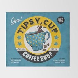 Tipsy Cup Throw Blanket