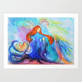 Essence of her Art Print