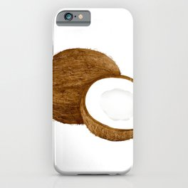 Watercolor Illustration of coconut iPhone Case